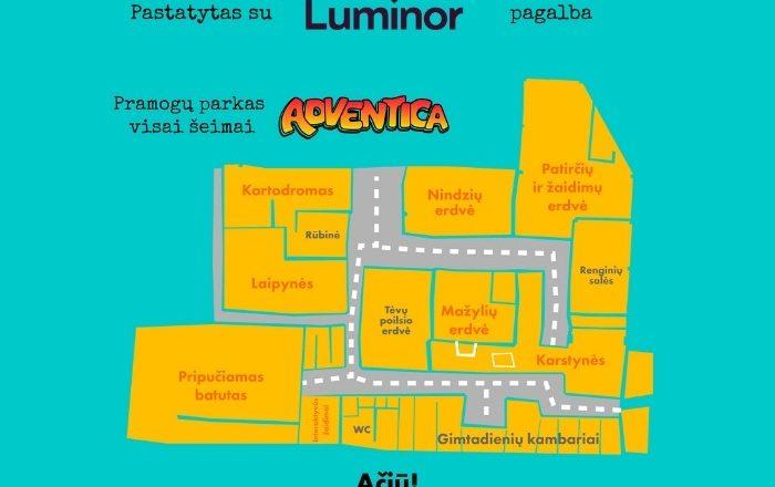 """""""Luminor"""" finansavo naujo šeimos pramogų parko """"Adventica"""" įkūrimą"""
